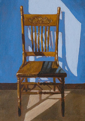brown chair painting