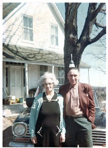 Earl & Dorothy Fleger in the 1960's in front of the house.